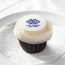 Your Company Logo Edible Frosting Sheets Cupcakes