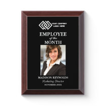 Your Company Logo Employee of the Month Award Plaque