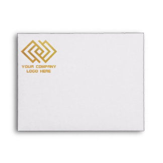 Your Company Logo Front Print Note Card Envelope