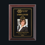 "Your Company Logo Gold Employee of the Year Award Plaque<br><div class=""desc"">Your Company Gold Logo Employee of the Year Award Plaque - Black and Gold</div>"