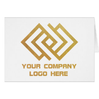 Your Company Logo Note Card White W