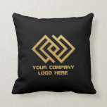 "Your Company Logo Throw Pillow Black<br><div class=""desc"">Your Company Logo Throw Pillow Black</div>"