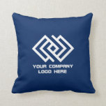 "Your Company Logo Throw Pillow Blue or Pick Color<br><div class=""desc"">Your Company Logo Throw Pillow - Choose Background Color</div>"