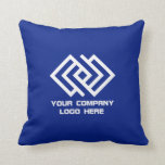 "Your Company Logo Throw Pillow Blue or Your Color<br><div class=""desc"">Your Company Logo Throw Pillow - Choose Background Color</div>"
