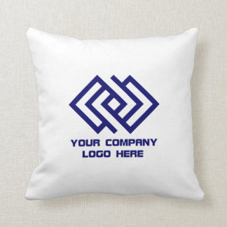 Your Company Logo Throw Pillow - Choose Color