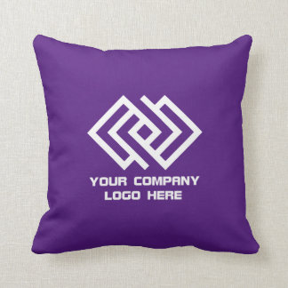 Your Company Logo Throw Pillow Purple