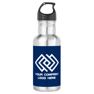 Your Company Logo Water Bottle - Choose Color S