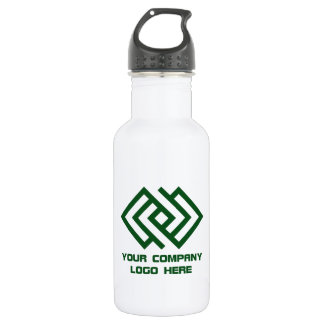 Your Company Logo Water Bottle Wht