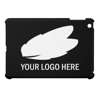 Your company logo white on black promotional cover for the iPad mini