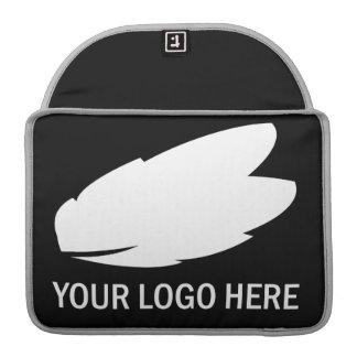 Your company logo white on black promotional MacBook pro sleeves