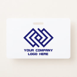 Your Company Logo Wide Badge
