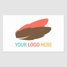 Your company or business logo large promotional rectangular sticker at Zazzle