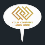 """Your Company Party Logo Cake Topper White<br><div class=""""desc"""">Your Company Party Logo Cake Topper</div>"""