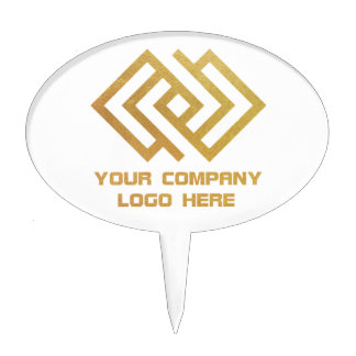 Your Company Party Logo Cake Topper White