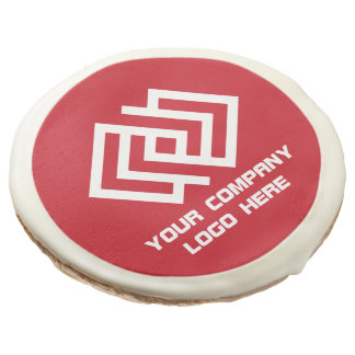 Your Company Party Logo Sugar Cookies Red