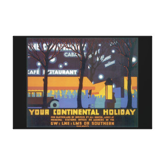 Your Continental Holiday_Vintage Travel Poster Canvas Print