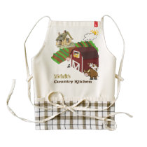 Your country kitchen zazzle HEART apron