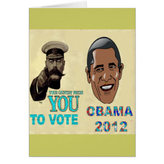 Your Country Need You to Vote OBAMA 2012 Card