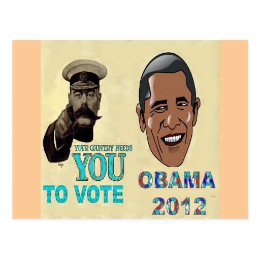 Your Country Need You to Vote OBAMA 2012 Post Card
