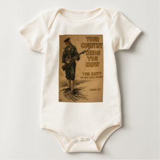 Your Country Needs You Now Baby Bodysuit