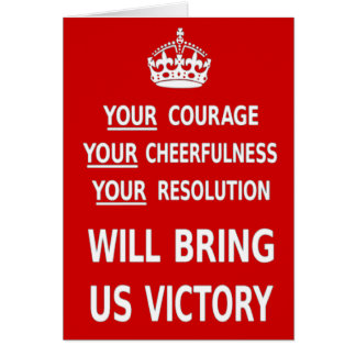 Your Courage Will Bring Us Victory. Best Price Card