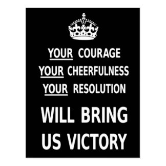 Your Courage Will Bring Us Victory white low price Postcard