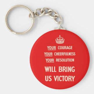 Your Courage Your Cheerfulness Your Resolution Keychain