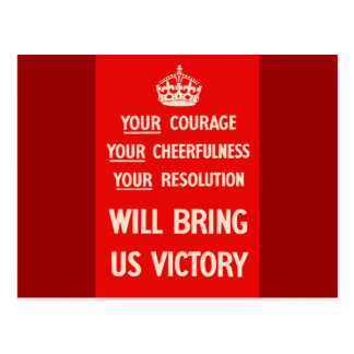 Your courage Your Cheerfulness Your Resolution Postcard