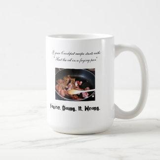 Your Crockpot Recipe is Wrong Coffee Mug