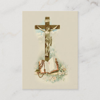Your Cross St. Francis de Sales Quote Holy Card