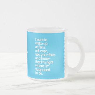 Your Custom 10 oz Frosted Glass Mug