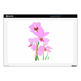 "Your Custom 17"" Laptop For Mac & PC Skin Orchids 17"" Laptop Skin"