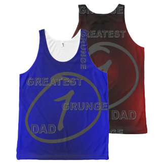Your Custom All-Over Printed Unisex Tank, gt1grdad All-Over-Print Tank Top