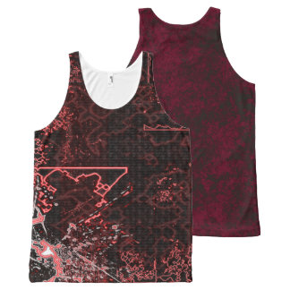 Your Custom All-Over Printed Unisex Tank, XL lacgr All-Over Print Tank Top