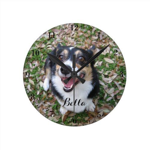 Your Custom Dog Photo Pet Round Clock
