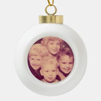 Your Custom Family Christmas Ceramic Ball Christmas Ornament