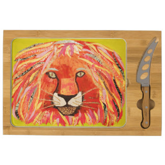 Your Custom Icon Cheese Board with Bold Lion Rectangular Cheese Board