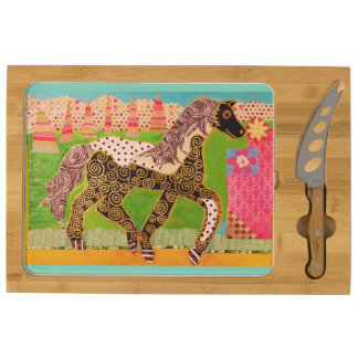 Your Custom Icon Cheese Board with Running Horse