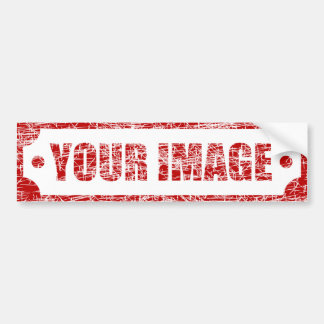 Your Custom Image - Grunge Effect Bumper Sticker