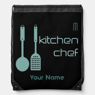 Your Custom Kitchen Chef Cook Drawstring Backpack