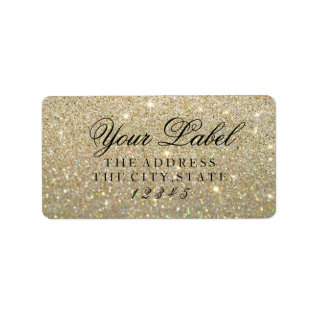 Your Custom Label - Gold Glit Fab at Zazzle
