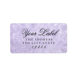 Your Custom Label - Lit Purple Glit Fab