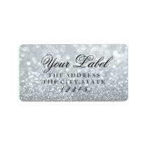 Your Custom Label - Silver Glitter Fab