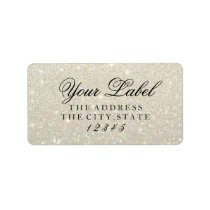 Your Custom Label - White Gold Glit Fab