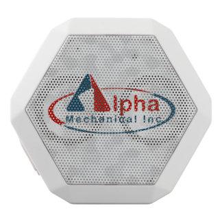 Your Custom Logo on White Speaker Box White Boombot Rex Bluetooth Speaker