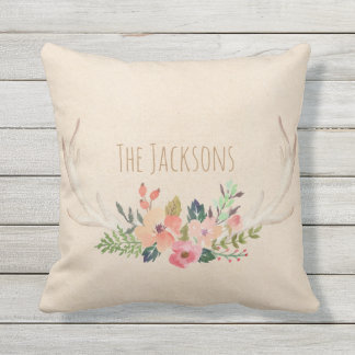 Your Custom Personalized Family Name Throw Pillow