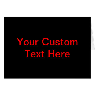 Your Custom Text Here Card