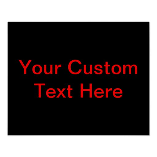 Your Custom Text Here Print