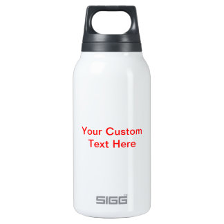 Your Custom Text Here 10 Oz Insulated SIGG Thermos Water Bottle