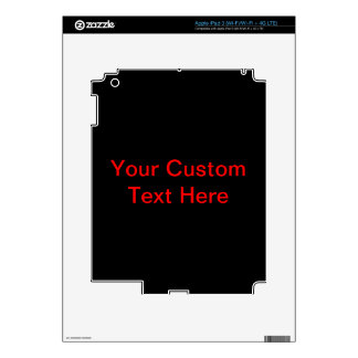 Your Custom Text Here Skin For iPad 3